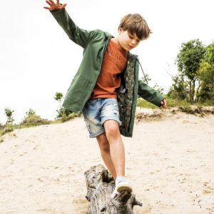 Jongens Parka Donkergroen Mon Petit Loup
